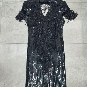 Vintage Tan-Chho beaded sequin dress